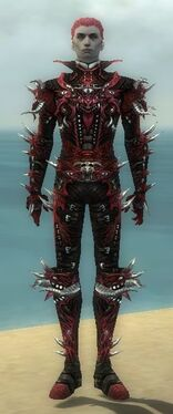 Necromancer Elite Canthan Armor M dyed front