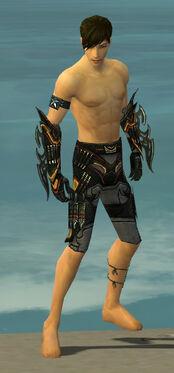 Assassin Elite Kurzick Armor M gray arms legs front