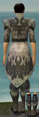 Elementalist Flameforged Armor M gray chest feet back