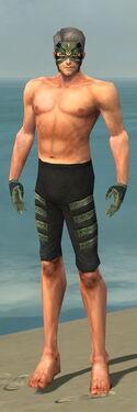 Mesmer Elite Kurzick Armor M gray arms legs front