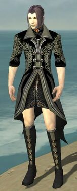 Elementalist Elite Kurzick Armor M gray chest feet front