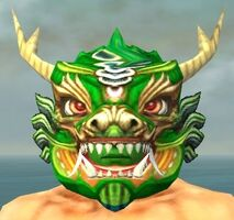 Imperial Dragon Mask dyed front