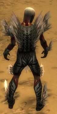 Necromancer Primeval Armor M gray back