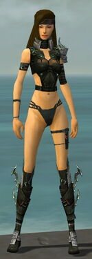 Assassin Elite Luxon Armor F gray chest feet front