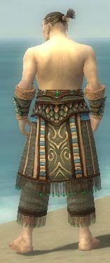 Monk Elite Luxon Armor M gray arms legs back