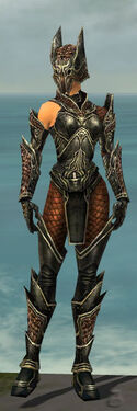 Warrior Kurzick Armor F gray front