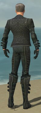 Mesmer Elite Rogue Armor M gray back