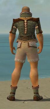 Monk Elite Kurzick Armor M gray chest feet back