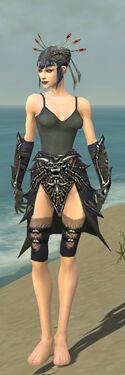 Necromancer Elite Necrotic Armor F gray arms legs front