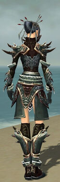 Necromancer Asuran Armor F gray back