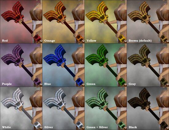 Golden Hammer dye chart