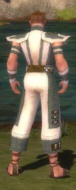 Monk Elite Saintly Armor M gray back