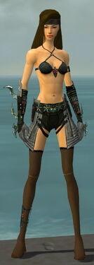 Assassin Elite Luxon Armor F gray arms legs front