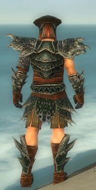 Warrior Luxon Armor M gray back