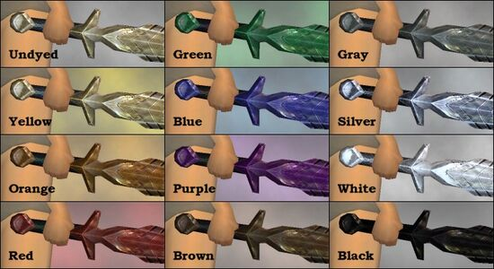 Notched Blade dye chart