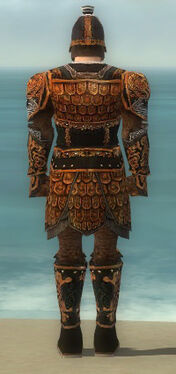 Warrior Canthan Armor M dyed back