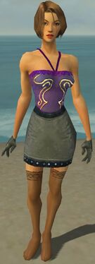 Mesmer Obsidian Armor F gray arms legs front