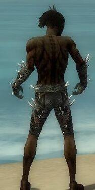 Necromancer Elite Canthan Armor M gray arms legs back