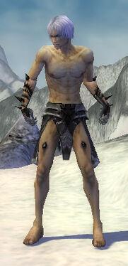 Necromancer Obsidian Armor M gray chest feet front