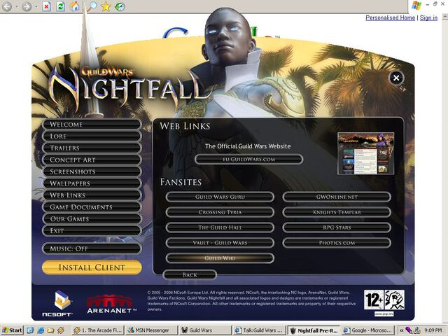 Nightfall Prerelease links to GuildWiki