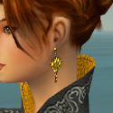 Elementalist Canthan Armor F dyed earrings