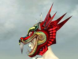 Sinister Dragon Mask dyed side