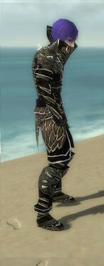 Necromancer Elite Luxon Armor M gray side