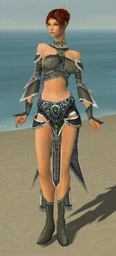 Elementalist Elite Luxon Armor F gray front