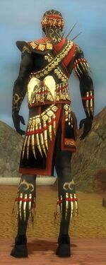 Ritualist Elite Canthan Armor M dyed back