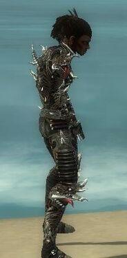 Necromancer Elite Canthan Armor M gray side