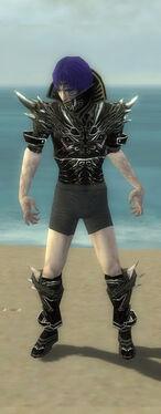 Necromancer Elite Luxon Armor M gray chest feet front