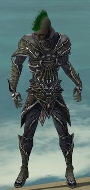 Necromancer Elite Necrotic Armor M gray front