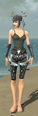 Necromancer Profane Armor F gray arms legs front
