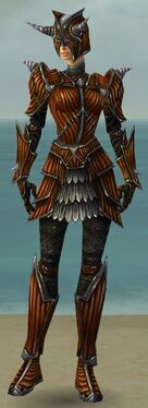 Warrior Wyvern Armor F dyed front