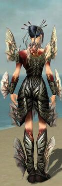Necromancer Primeval Armor F gray back