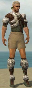 Ranger Elite Fur-Lined Armor M gray chest feet front