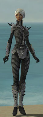 Elementalist Obsidian Armor F gray front