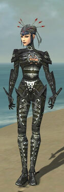 Necromancer Necrotic Armor F gray front