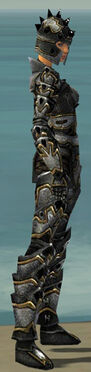 Warrior Obsidian Armor F dyed side alternate