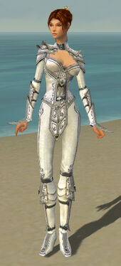 Elementalist Tyrian Armor F gray front