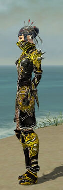 Necromancer Elite Luxon Armor F dyed side