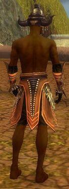 Ritualist Obsidian Armor M gray arms legs back