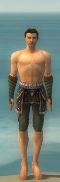 Ranger Elite Studded Leather Armor M gray arms legs front