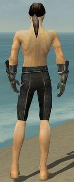 Elementalist Elite Flameforged Armor M gray arms legs back