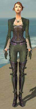 Mesmer Rogue Armor F gray front