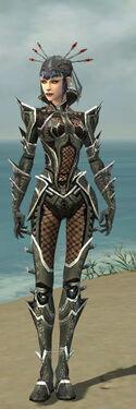 Necromancer Elite Kurzick Armor F gray front
