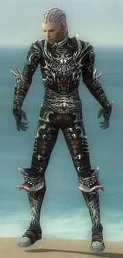 Necromancer Canthan Armor M gray front