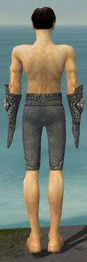 Elementalist Stoneforged Armor M gray arms legs back