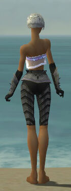 Elementalist Obsidian Armor F gray arms legs back