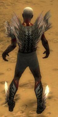 Necromancer Primeval Armor M gray chest feet back